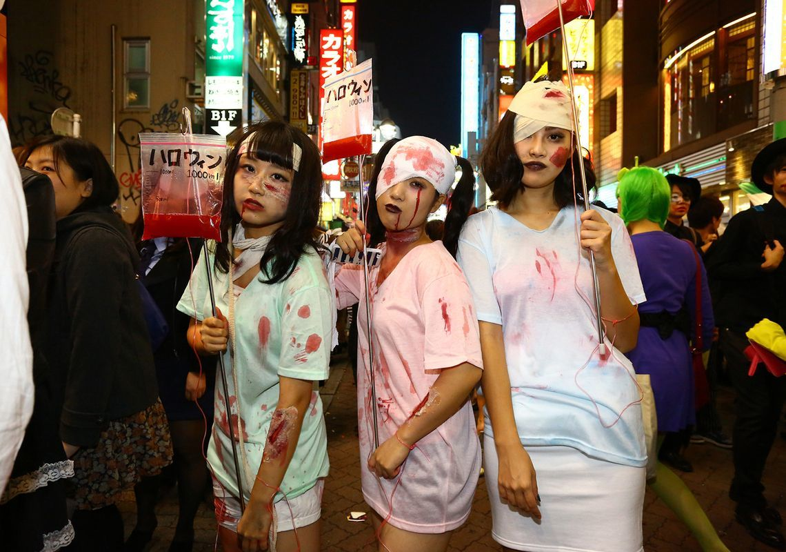 why do japanese people love halloween so much?   original   tokyo