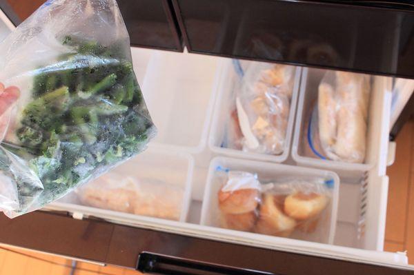 冷凍室は5つのカテゴリーに分けています