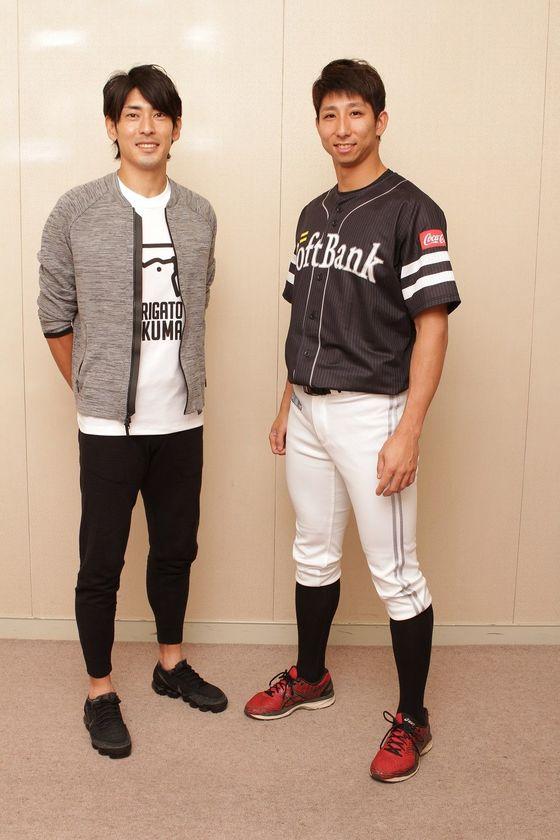 秋本真吾さん(左)と福田秀平選手(撮影:田所千代美)